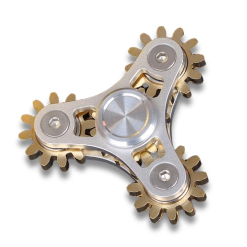 hand spinner engrenage 4 roulements argent