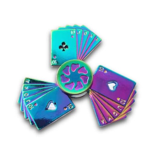hand spinner carte arc en ciel