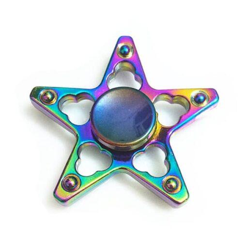 hand spinner étoile arc en ciel