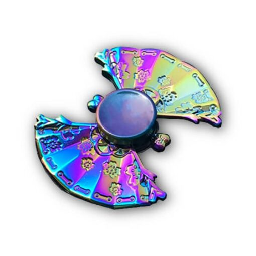 hand spinner eventail arc en ciel