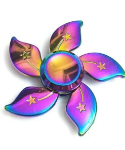 hand spinner fleur arc en ciel