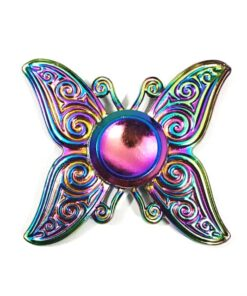 hand spinner papillon arc en ciel