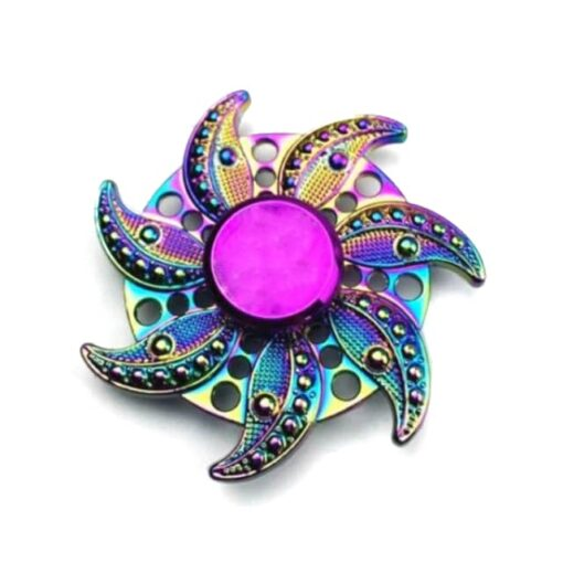 hand spinner rose arc en ciel