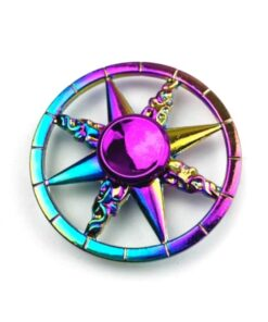 hand spinner rose des vents arc en ciel