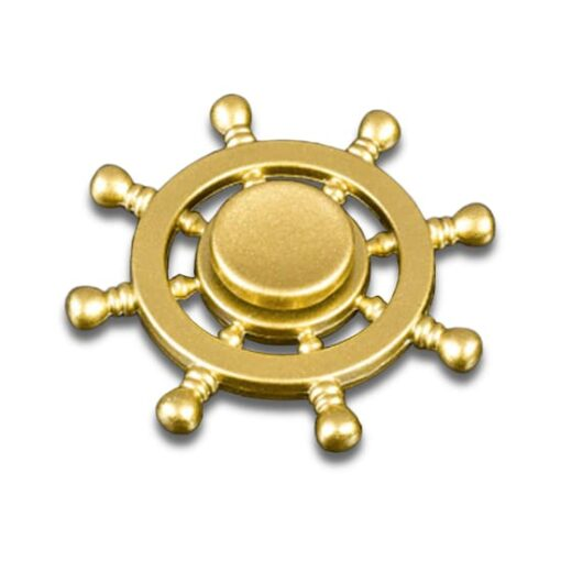 hand spinner roue de bateau dorée