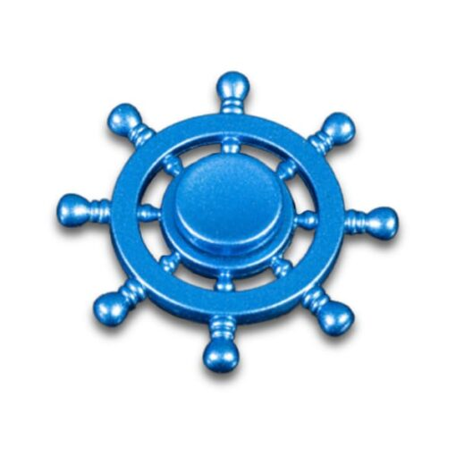 hand spinner roue de bateau bleu