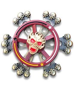 hand spinner skull