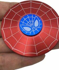 hand spinner spiderman rouge dans la main