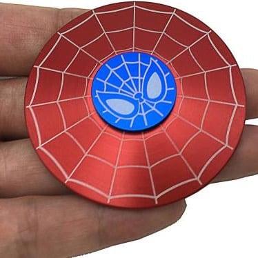 hand spinner spiderman rouge dans la main