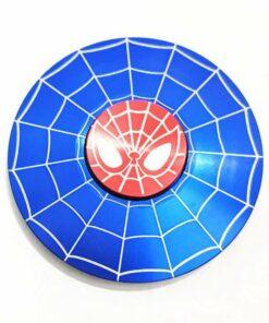 hand spinner spiderman bleu