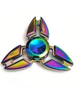 hand spinner triangle arc en ciel