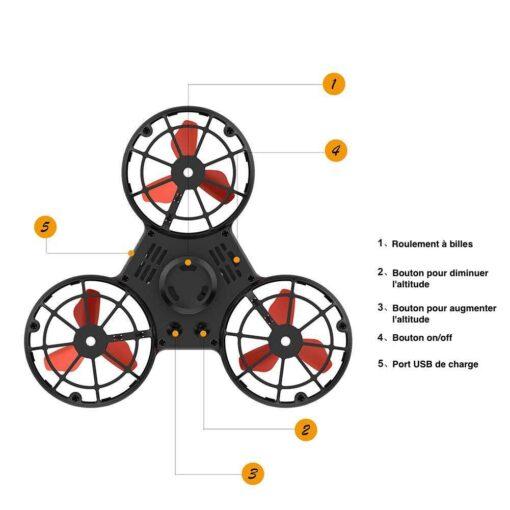 hand spinner volant drone en détails