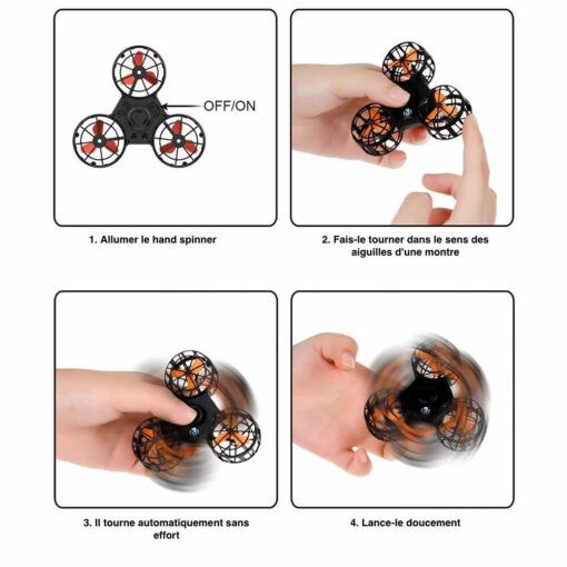 hand spinner volant drone utilisation