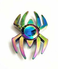 hand spinner araignée arc en ciel