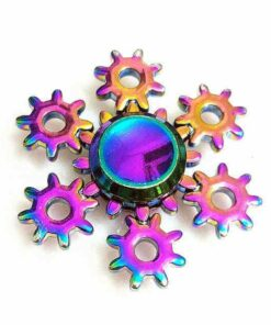 hand spinner engrenage arc en ciel