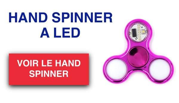 hand spinner a led