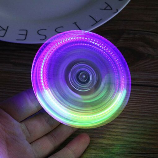 hand spinner lumineux violet
