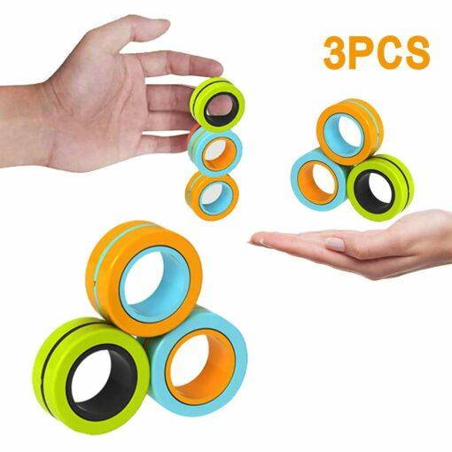 hand spinner magnétique dans la main